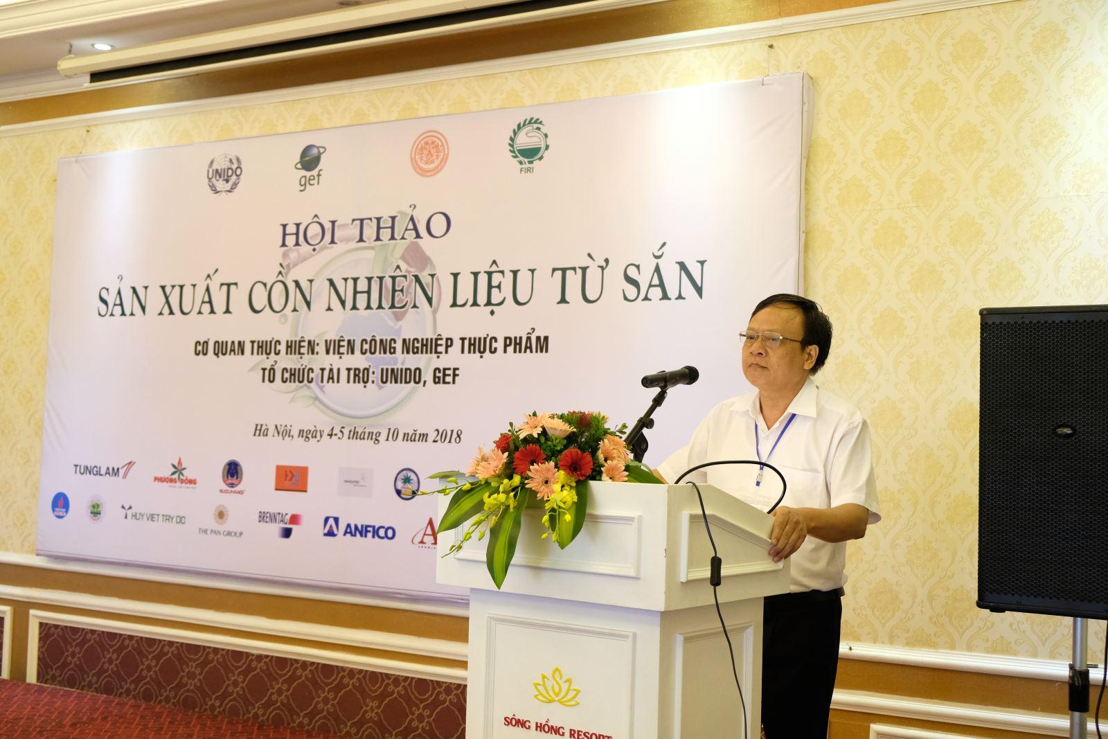 PGS. Lê Đức Mạnh, Viện trưởng, Giám đốc dự án tại Việt Nam đọc diễn văn khai mạc hội thảo